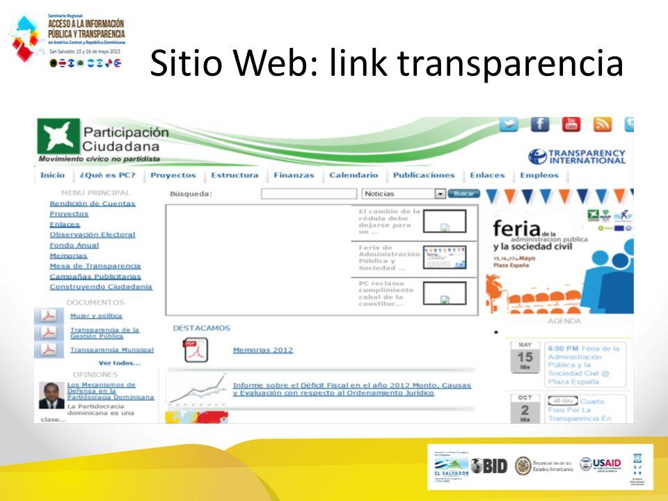 Sitio Web: link transparencia