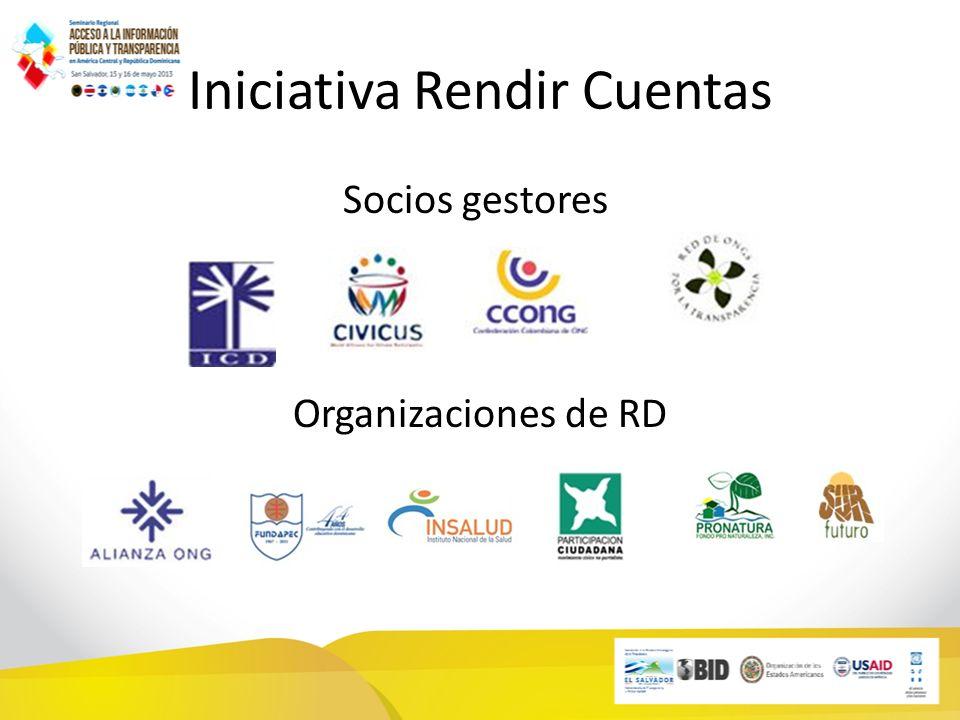 Iniciativa Rendir Cuentas Socios gestores Organizaciones de RD