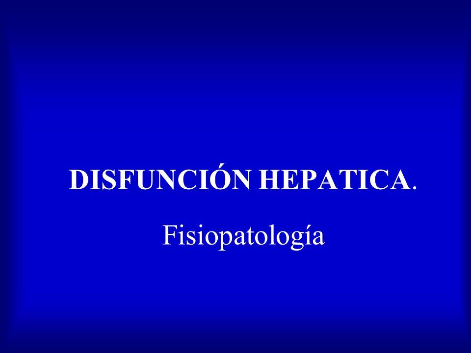 DISFUNCION HEPATICA : Manejo Post-operatorio TRATAMIENTO ASCITIS Restricción Na, liquidos Diureticos: espirolactona(100-400mg/d),furosemida (20-160mg/d) precaución Hipovolemia hipokalemia Valorar retirada 2-3 dias antes tto Q: -VM larga -Exarcerbación hiperK en presencia FRA Paracentesis -Equilibrio dinamico liquido ascítico y plasma -Reinfusión de albumina;8 g x l extraido(1frasco50ml 20% = 10g) TOH