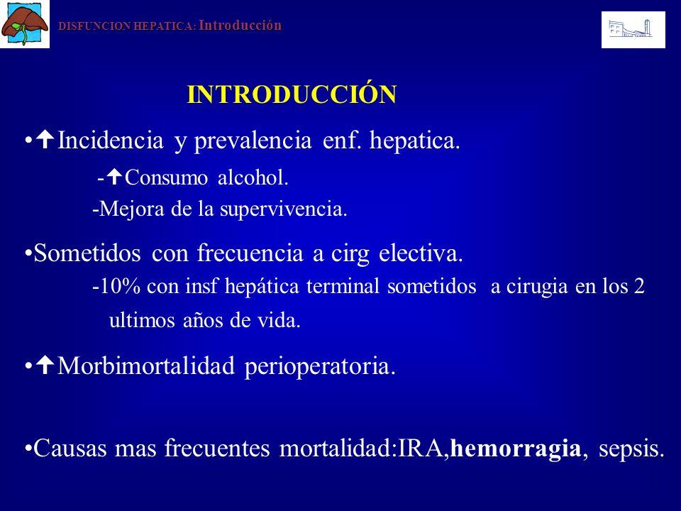 DISFUNCION HEPATICA : Manejo Anestesico Consideraciones generales -Accesos venosos perifericos calibre / via central (colocación cuidadosa si coagulopatia).