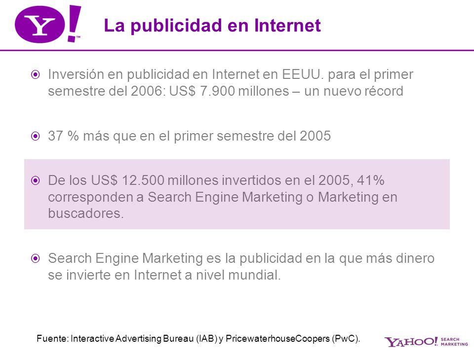 La publicidad en Internet Inversión en publicidad en Internet en EEUU.