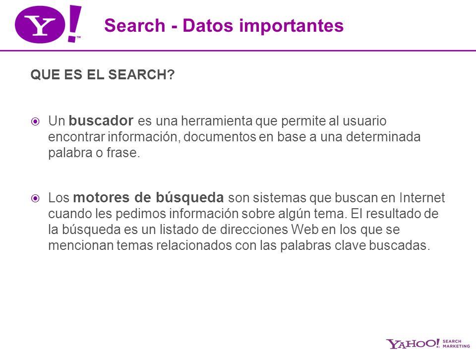 Search Engine Marketing o Marketing de Buscadores *Acciones de marketing orientadas a incrementar la visibilidad de un sitio web en la página de resultados de los motores de búsqueda* 3 métodos principales son: SEO Pay per click (Sponsored Search) Inclusión paga