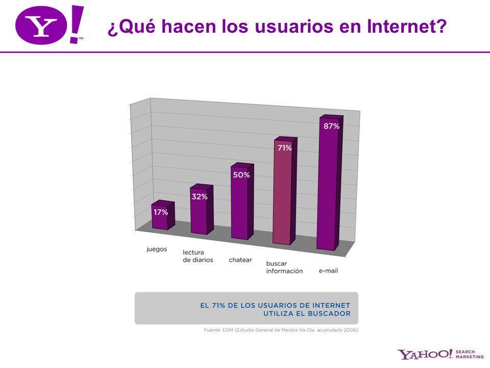 ¿Qué hacen los usuarios en Internet?