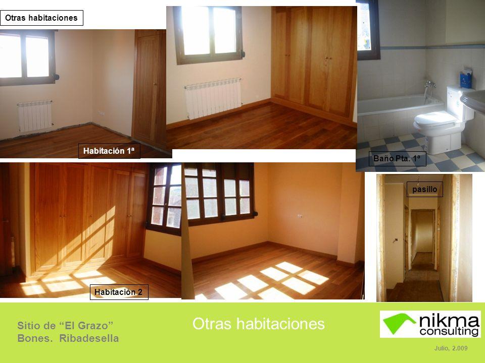 Sitio de El Grazo Bones.Ribadesella Julio, 2.009 Otras habitaciones Baño Pta.