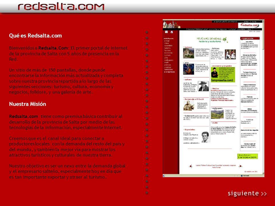 Bienvenidos a Redsalta.com Presentación virtual