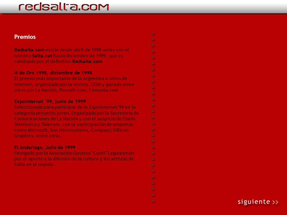 Empresalta.com Es el portal de economía y negocios de Redsalta.com. Existe desde fines de 2001. Es un sitio orientado a la difusión de la economía y l