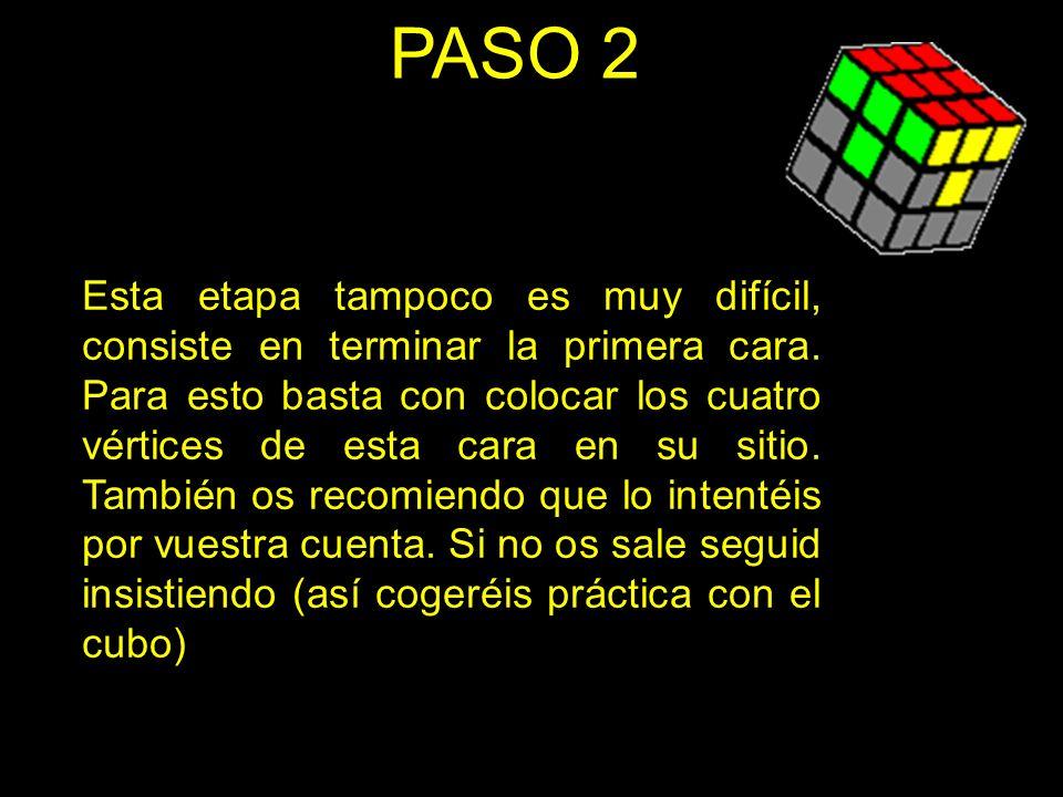 PASO 3 Esta consiste en colocar las aristas en las capas centrales del cubo.
