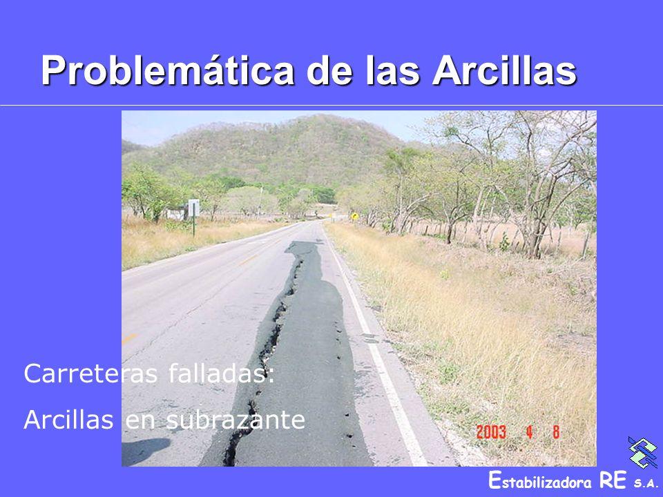 E stabilizadora RE S.A. Problemática de las Arcillas Carreteras falladas: Arcillas en subrazante