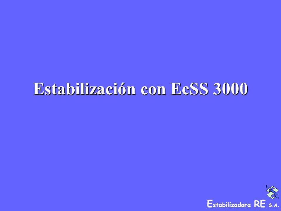 E stabilizadora RE S.A. Estabilización con EcSS 3000