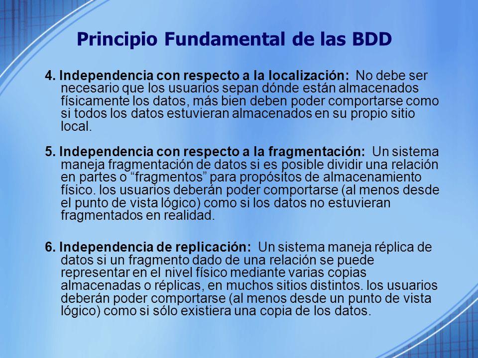 Principio Fundamental de las BDD 4.