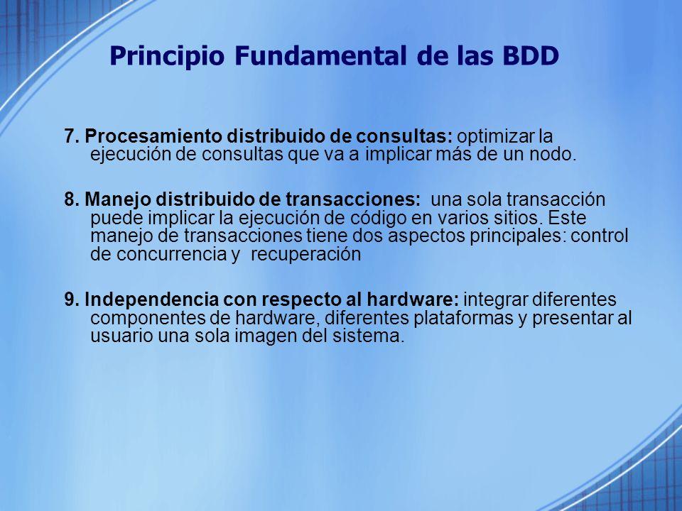 Principio Fundamental de las BDD 7.