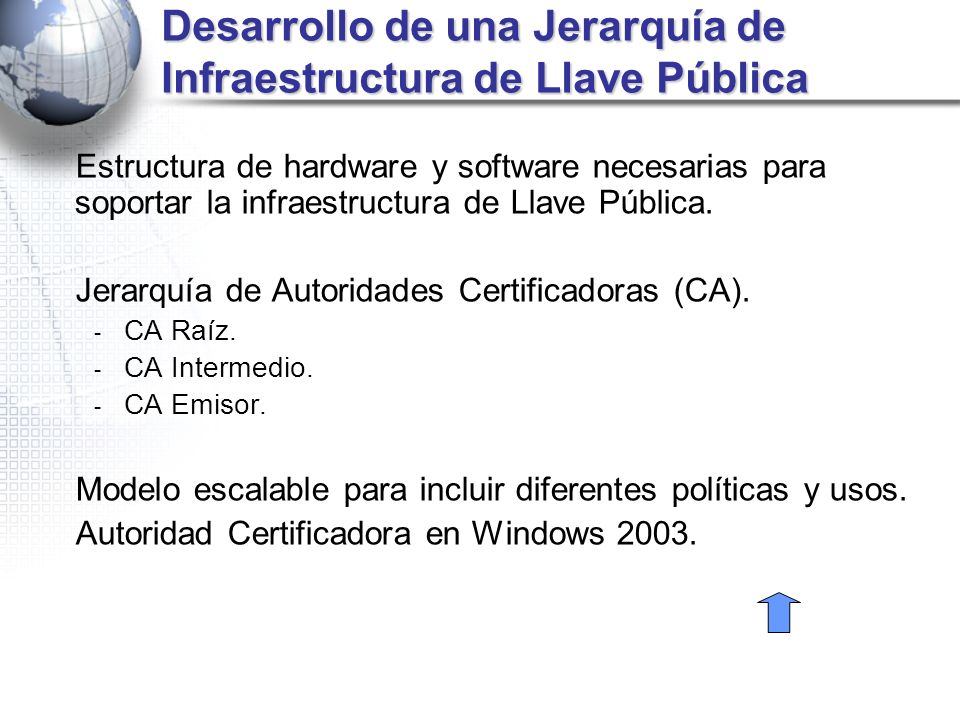 Desarrollo de una Jerarquía de Infraestructura de Llave Pública Estructura de hardware y software necesarias para soportar la infraestructura de Llave
