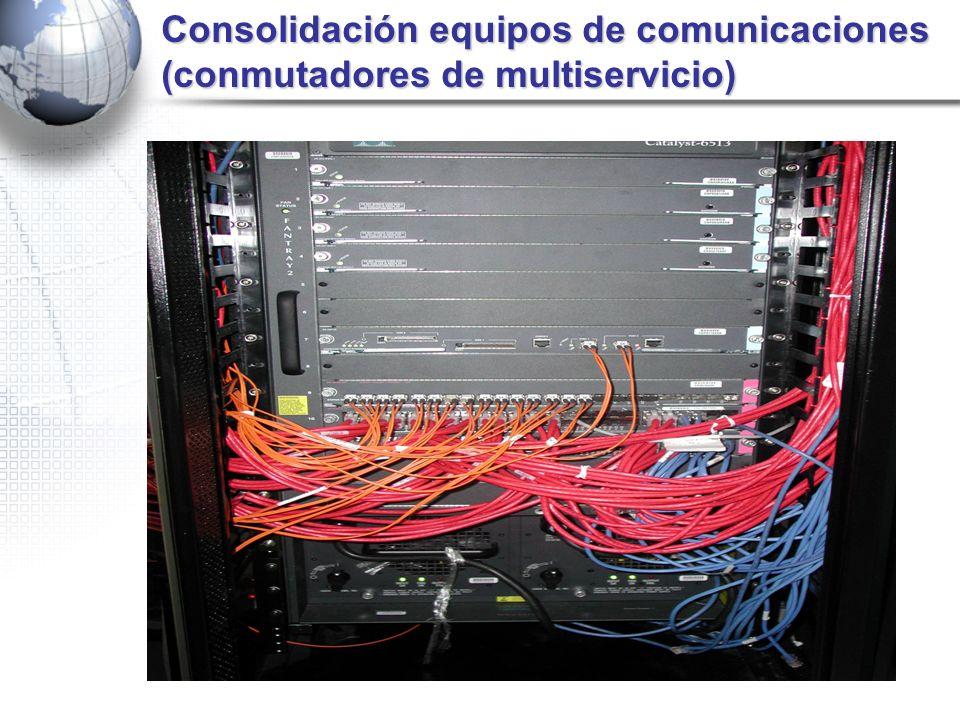 Consolidación equipos de comunicaciones (conmutadores de multiservicio)