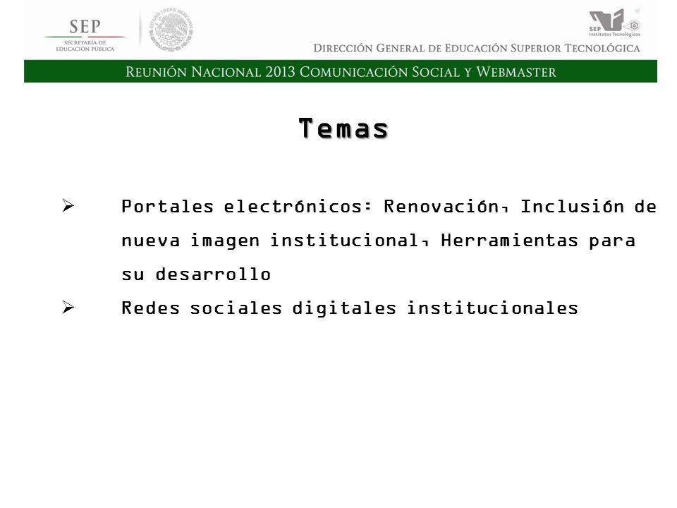 Cd. Madero 2009 Asamblea General Ordinaria del Consejo Nacional de Directores Hermosillo 2010 Temas Portales electrónicos: Renovación, Inclusión de nu