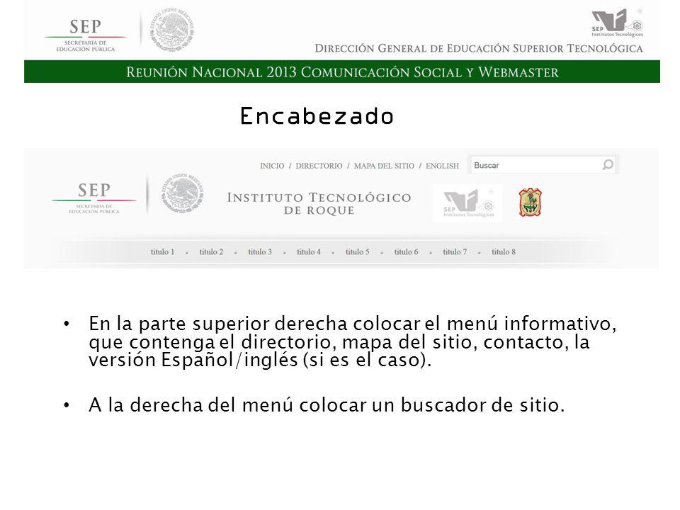 Cd. Madero 2009 Asamblea General Ordinaria del Consejo Nacional de Directores Hermosillo 2010 Encabezado En la parte superior derecha colocar el menú