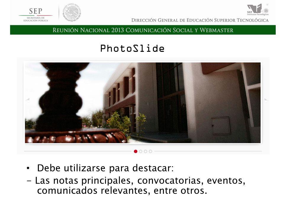 Cd. Madero 2009 Asamblea General Ordinaria del Consejo Nacional de Directores Hermosillo 2010 PhotoSlide Debe utilizarse para destacar: - Las notas pr