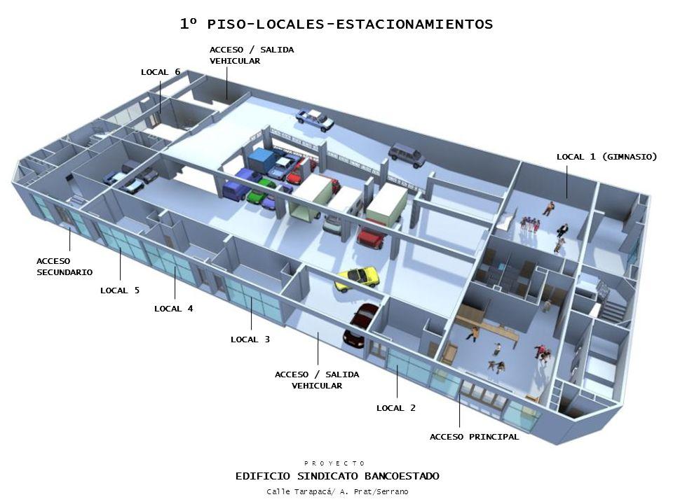 ACCESO PRINCIPAL LOCAL 6 LOCAL 1 (GIMNASIO) ACCESO SECUNDARIO ACCESO / SALIDA VEHICULAR LOCAL 3 LOCAL 4 ACCESO / SALIDA VEHICULAR LOCAL 2 LOCAL 5 P R