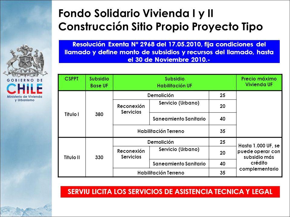 LLAMADO NACIONAL CSP PROYECTO TIPO ORGANIZACIÓN DEMANDA LICITACIÓN EGIS/PSAT GESTION TECNICA, LEGAL Y ADMINISTRATIVA POSTULACION Y PRESELECCION FAMILIAS Empresas Vivienda Proyecto Tipo Banco Viviendas SERVIU Cumple: DITEC D.S.