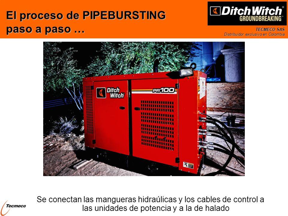 TECMECO SAS Distribuidor exclusivo en Colombia Se conectan las mangueras hidraúlicas y los cables de control a las unidades de potencia y a la de hala