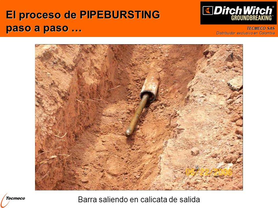 TECMECO SAS Distribuidor exclusivo en Colombia Barra saliendo en calicata de salida El proceso de PIPEBURSTING paso a paso …
