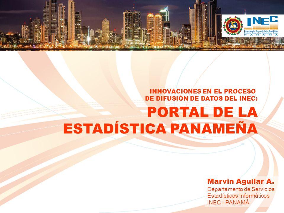 CONTENIDO El INEC Panamá ¿Por qué un Portal Web.