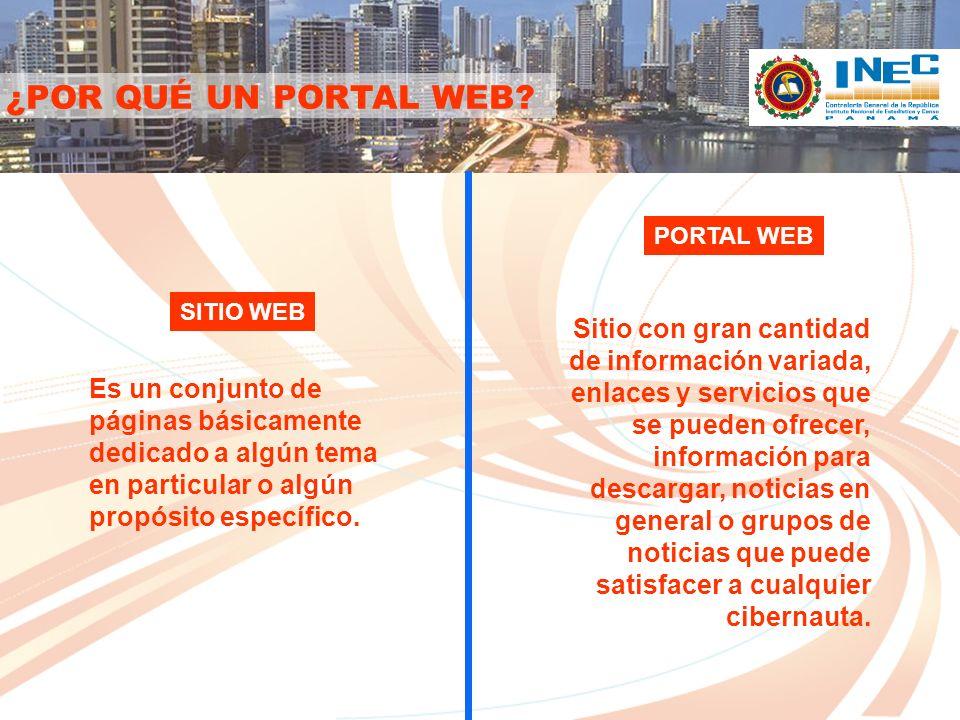 ANTECEDENTES DEL PORTAL WEB Desde las décadas del 90 – 2000 y actualmente, las estadísticas panameñas han contado con 3 versiones de sitio Web.