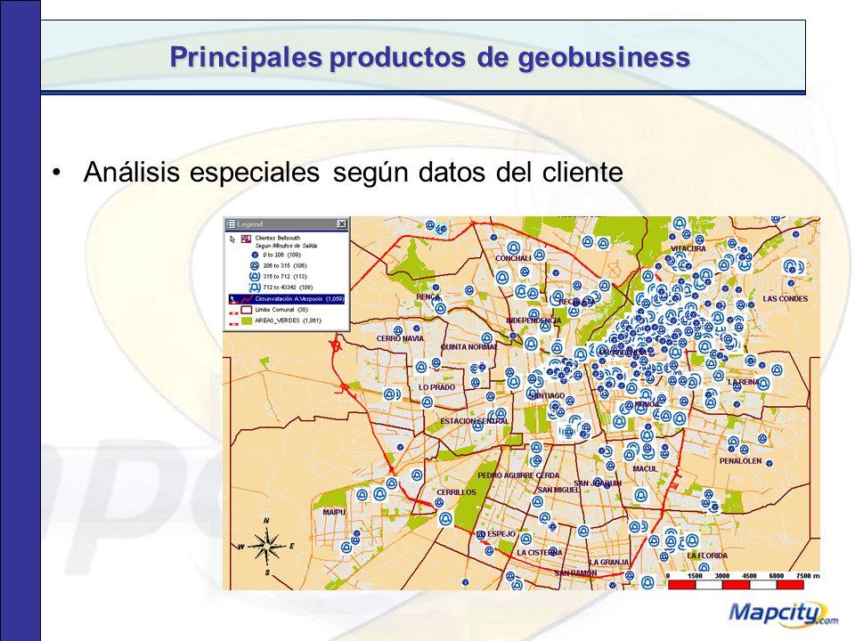 Principales productos de geobusiness Estudios específicos.