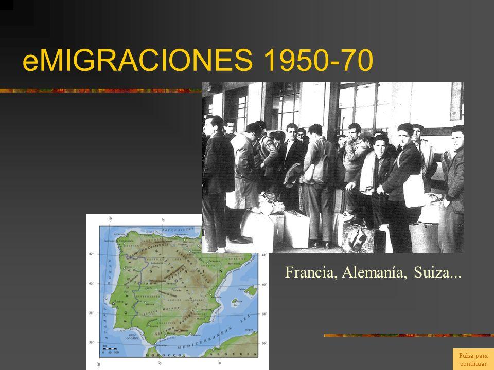 eMIGRACIONES 1950-70 Francia, Alemanía, Suiza... Pulsa para continuar