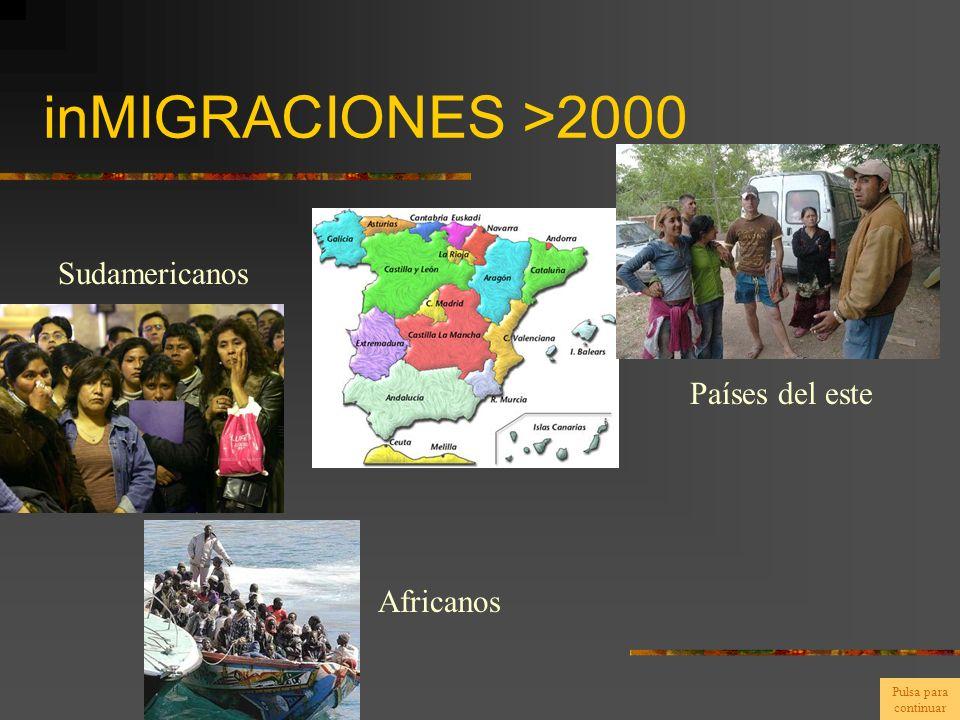 inMIGRACIONES >2000 Sudamericanos Africanos Países del este Pulsa para continuar