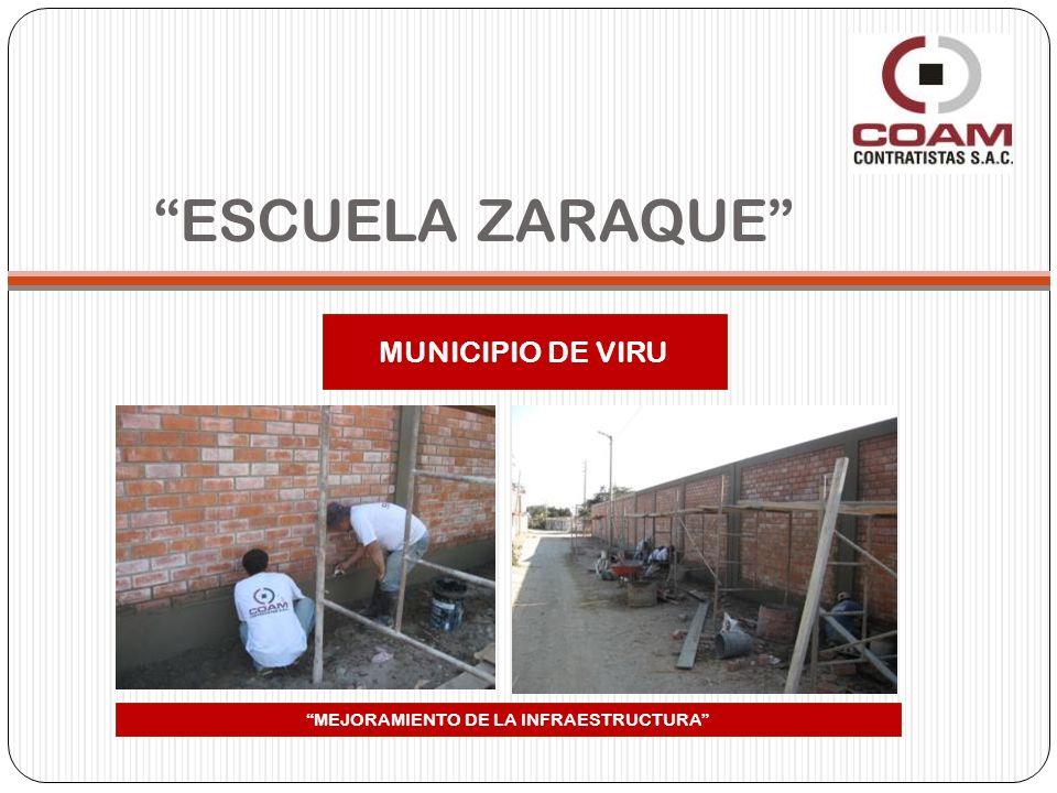 ESCUELA ZARAQUE MUNICIPIO DE VIRU MEJORAMIENTO DE LA INFRAESTRUCTURA