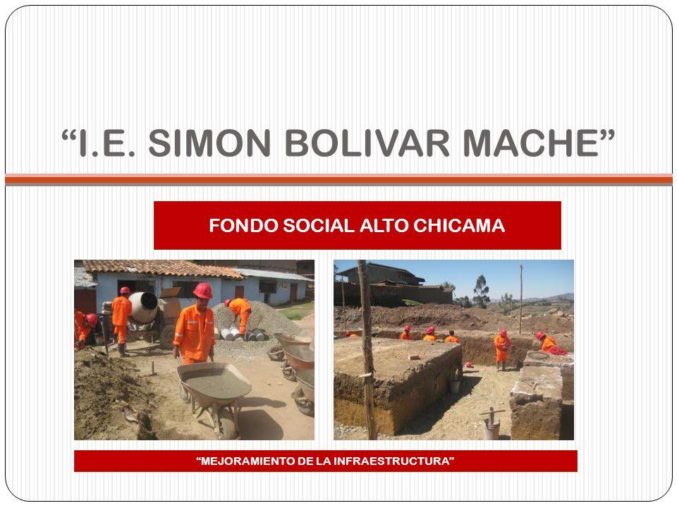 I.E. SIMON BOLIVAR MACHE FONDO SOCIAL ALTO CHICAMA MEJORAMIENTO DE LA INFRAESTRUCTURA