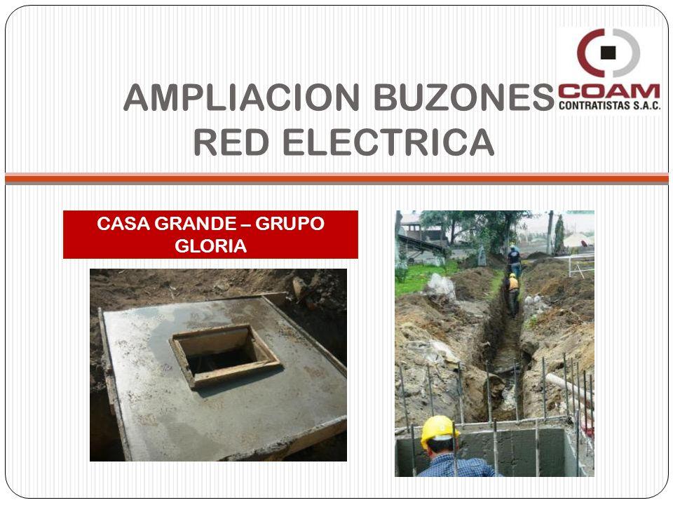 AMPLIACION BUZONES RED ELECTRICA CASA GRANDE – GRUPO GLORIA