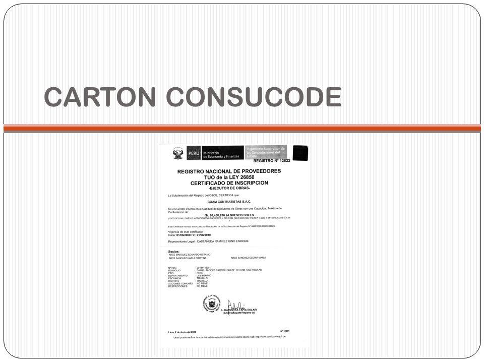 CARTON CONSUCODE