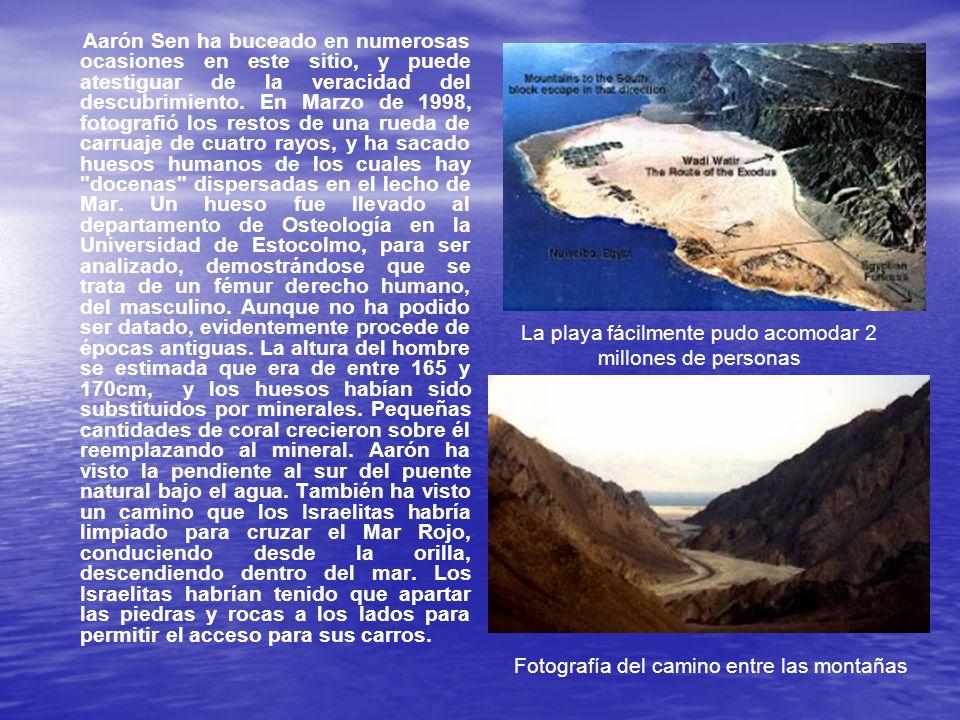 Aarón Sen ha buceado en numerosas ocasiones en este sitio, y puede atestiguar de la veracidad del descubrimiento. En Marzo de 1998, fotografió los res
