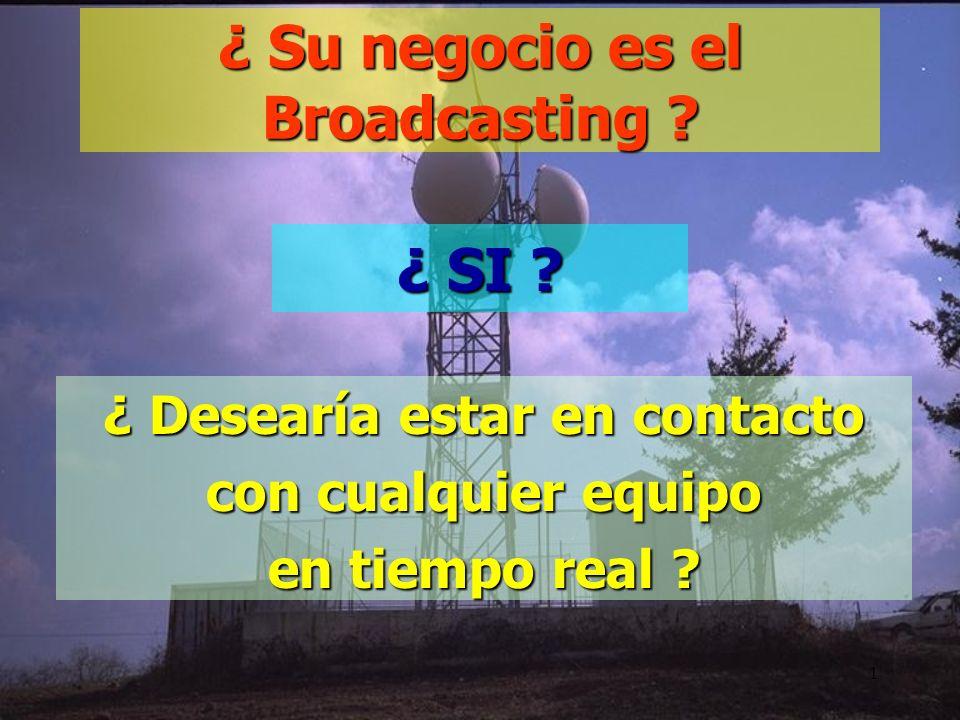 1 ¿ Su negocio es el Broadcasting .