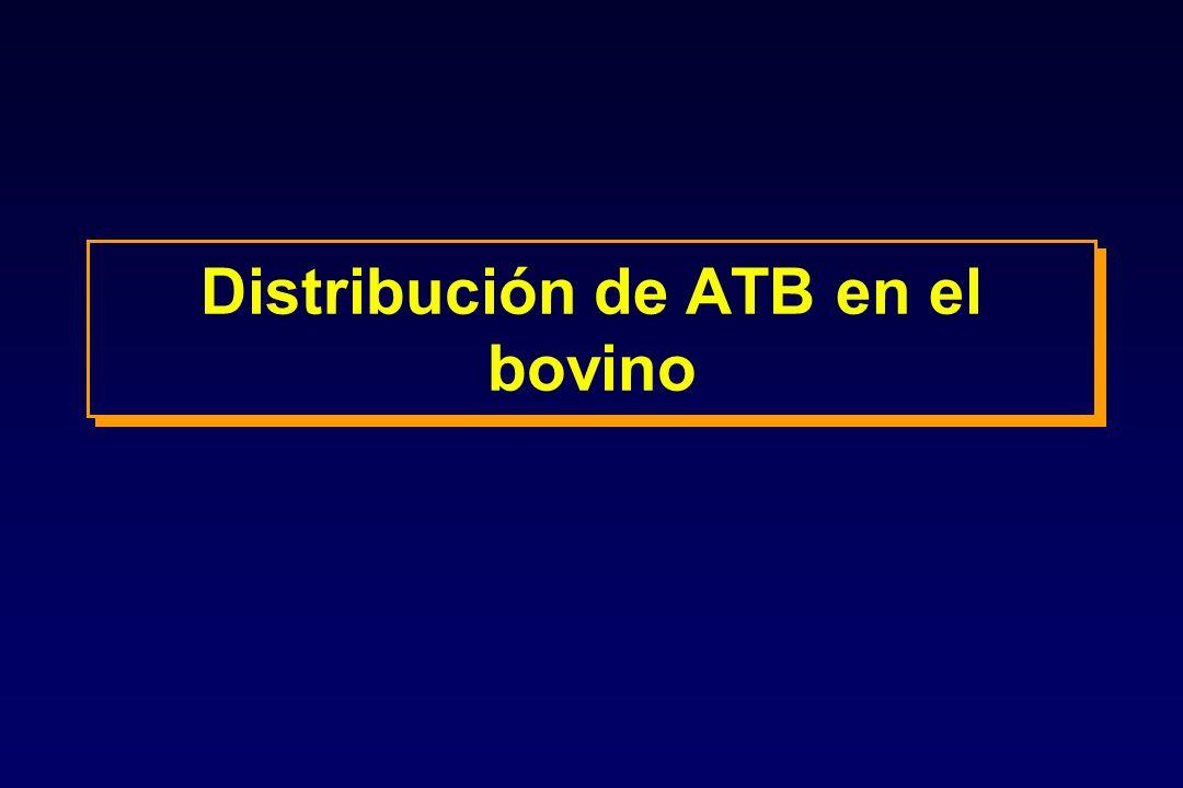 Distribución de ATB en el bovino