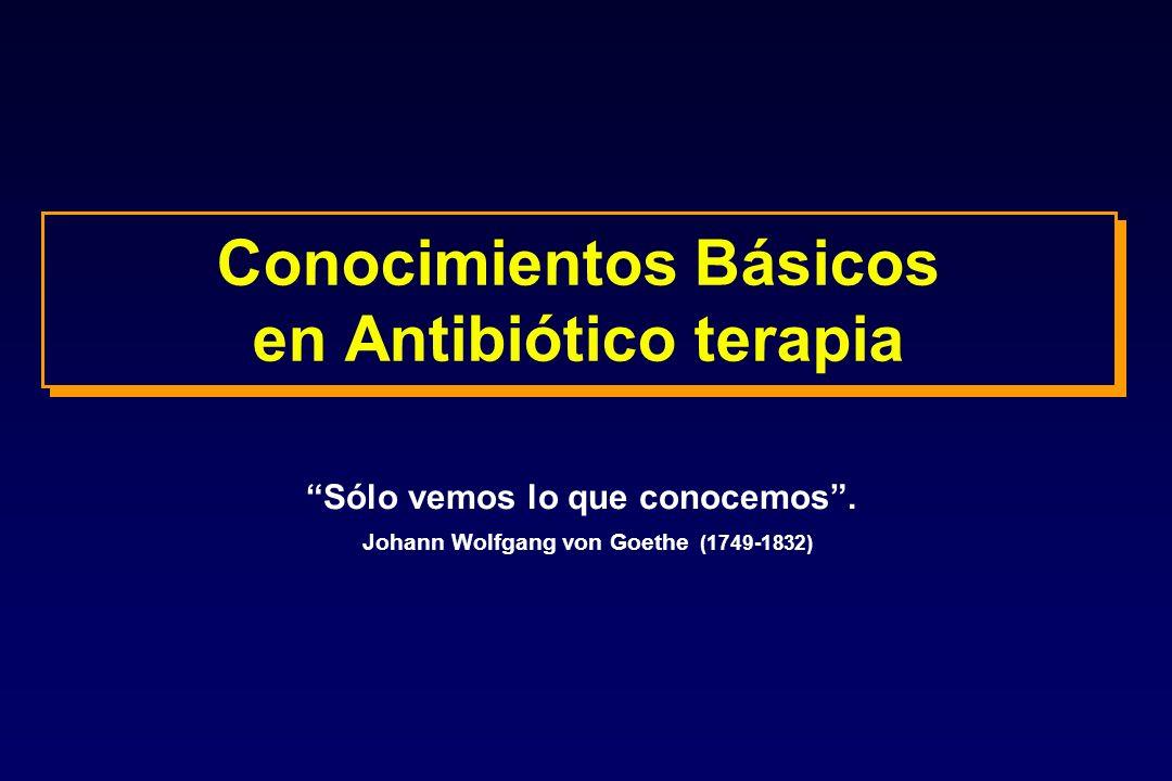 Conocimientos Básicos en Antibiótico terapia Sólo vemos lo que conocemos. Johann Wolfgang von Goethe (1749-1832)