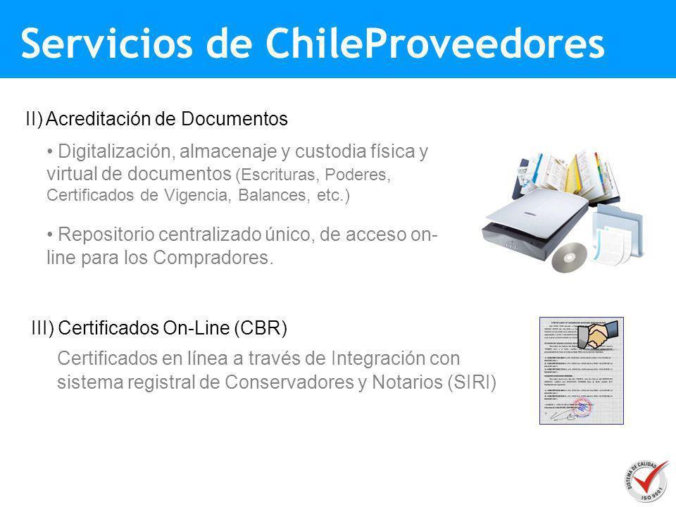 II) Acreditación de Documentos Digitalización, almacenaje y custodia física y virtual de documentos (Escrituras, Poderes, Certificados de Vigencia, Ba