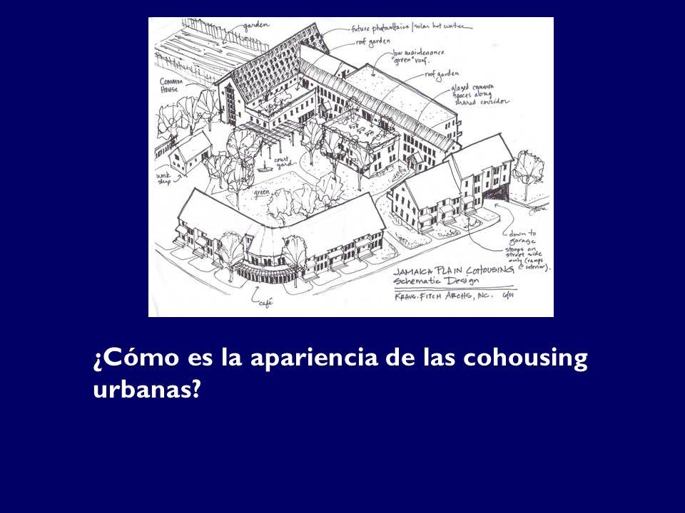 ¿Cómo es la apariencia de las cohousing urbanas?