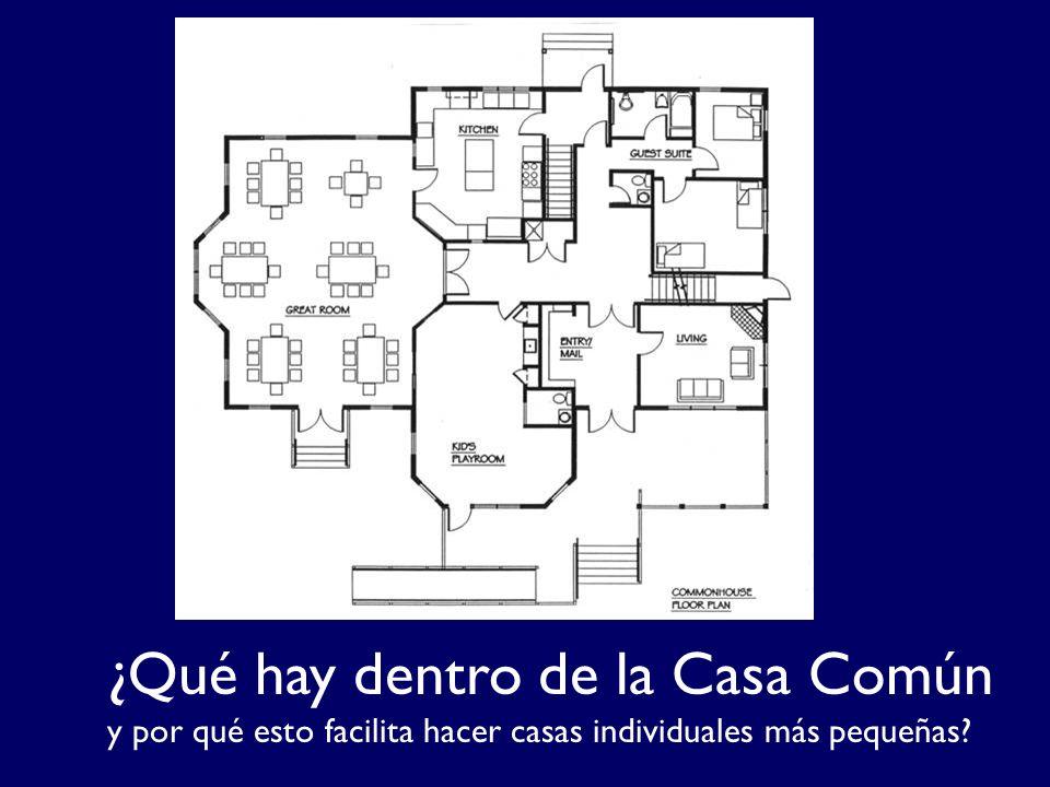 ¿Qué hay dentro de la Casa Común y por qué esto facilita hacer casas individuales más pequeñas?