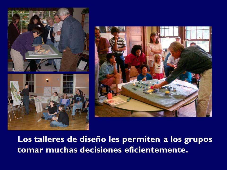 Los talleres de diseño les permiten a los grupos tomar muchas decisiones eficientemente.