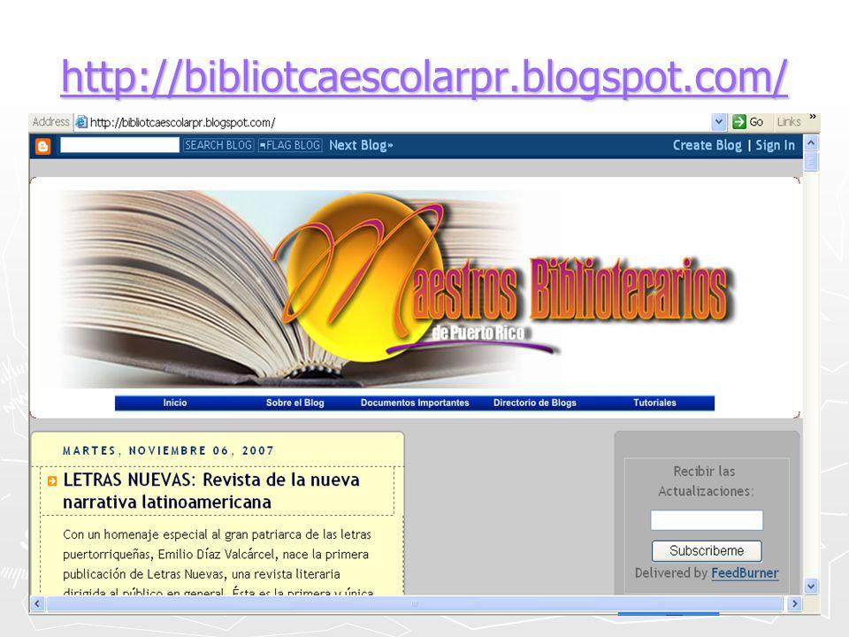 http://bibliotcaescolarpr.blogspot.com/