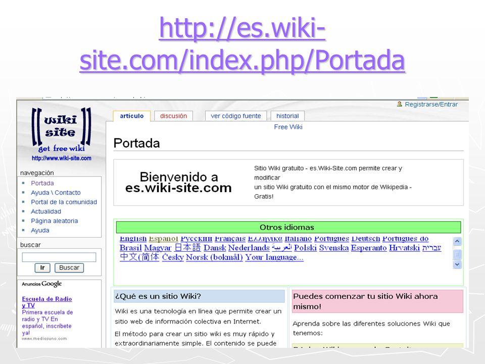 http://es.wiki- site.com/index.php/Portada http://es.wiki- site.com/index.php/Portada