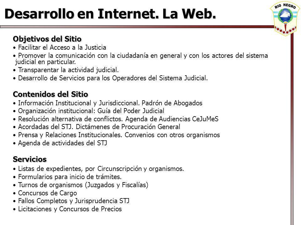 Desarrollo en Internet.La Web.