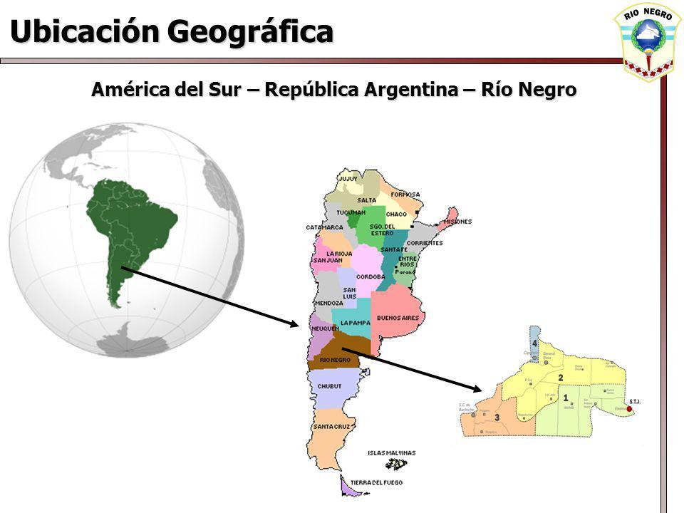 Ubicación Geográfica América del Sur – República Argentina – Río Negro