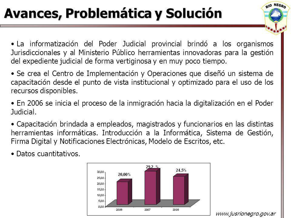 La informatización del Poder Judicial provincial brindó a los organismos Jurisdiccionales y al Ministerio Público herramientas innovadoras para la gestión del expediente judicial de forma vertiginosa y en muy poco tiempo.