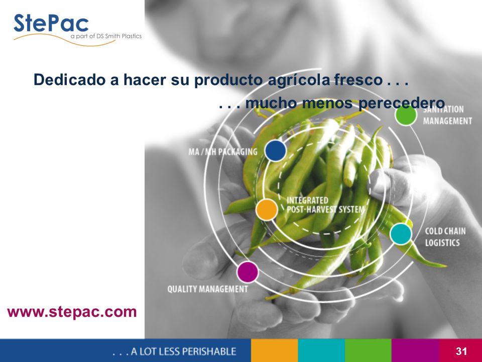31 Dedicado a hacer su producto agrícola fresco...... mucho menos perecedero www.stepac.com