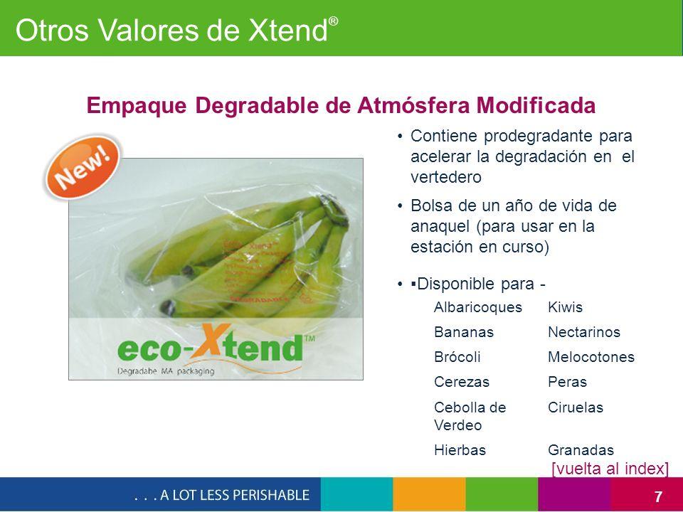 28 Red Global de StePac Empacados en los productos Xtend ® de StePac y monitoreados por Xsense........