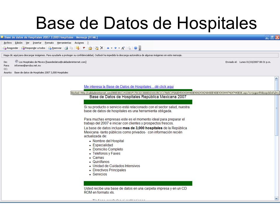 Base de Datos de Hospitales