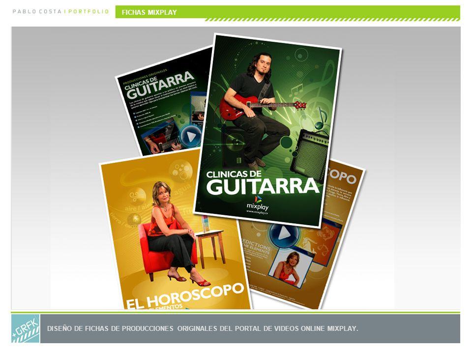 FICHAS MIXPLAY DISEÑO DE FICHAS DE PRODUCCIONES ORIGINALES DEL PORTAL DE VIDEOS ONLINE MIXPLAY.